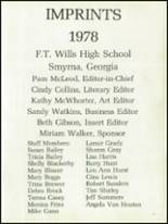 1978 Wills High School Yearbook Page 20 & 21