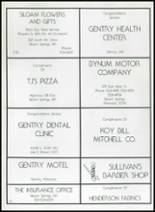 1982 Gentry High School Yearbook Page 156 & 157