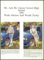1992 Genoa Central High School Yearbook Page 22 & 23