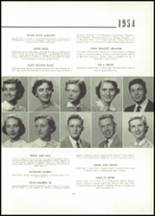 1954 East High School Yearbook Page 20 & 21