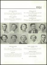 1954 East High School Yearbook Page 22 & 23