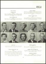 1954 East High School Yearbook Page 24 & 25