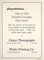 1950 Hamilton Township High School Yearbook Page 90 & 91