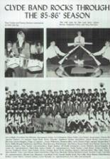 1986 Clyde High School Yearbook Page 116 & 117