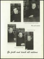 1950 Pius Xi High School Yearbook Page 16 & 17