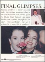 1992 Clyde High School Yearbook Page 208 & 209