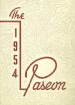 1954 Yearbook Paseo High School