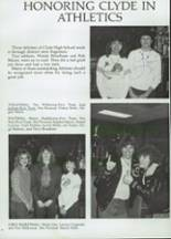 1985 Clyde High School Yearbook Page 78 & 79