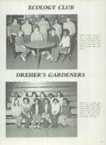 1982 Dreher High School Yearbook Page 110 & 111