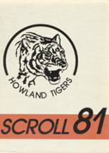 1981 Yearbook Howland High School