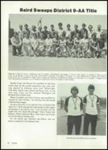 1984 Baird High School Yearbook Page 86 & 87