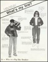 1984 Big Sky High School Yearbook Page 40 & 41