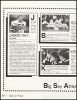 1984 Big Sky High School Yearbook Page 108 & 109
