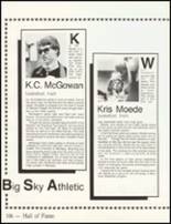 1984 Big Sky High School Yearbook Page 110 & 111