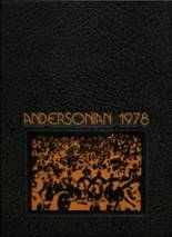 1978 Yearbook Anderson High School
