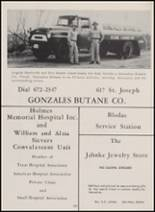 1962 Gonzales High School Yearbook Page 154 & 155