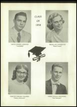 1958 Unadilla High School Yearbook Page 20 & 21