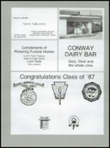 1987 Conway High School Yearbook Page 122 & 123