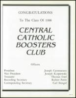 1988 Central Catholic High School Yearbook Page 112 & 113