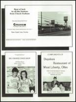 1985 West Liberty-Salem High School Yearbook Page 134 & 135