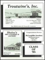 1985 West Liberty-Salem High School Yearbook Page 138 & 139