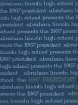 1967 Yearbook Lincoln High School