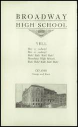 1915 Broadway High School Yearbook Page 12 & 13
