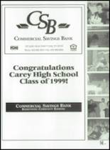 1999 Carey High School Yearbook Page 156 & 157