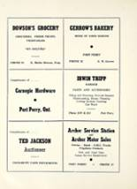 1954 Port Perry High School Yearbook Page 18 & 19
