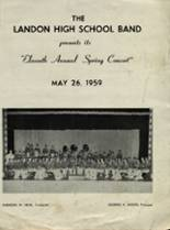1959 Yearbook Landon High School