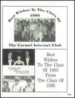 1993 Carmel High School Yearbook Page 244 & 245