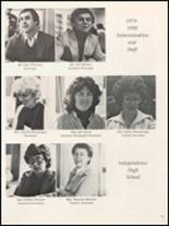 1980 Independence Christian High School Yearbook Page 176 & 177