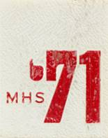 1971 Yearbook Monroe High School
