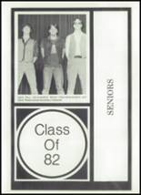 1982 Tygarts Valley High School Yearbook Page 16 & 17
