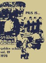 1978 Yearbook St. Pius X Catholic High School