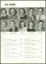 1958 Marion Center Area High School Yearbook Page 82 & 83