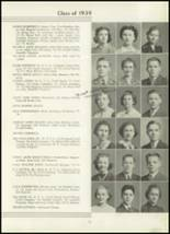 1939 Westport High School Yearbook Page 34 & 35