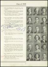 1939 Westport High School Yearbook Page 38 & 39
