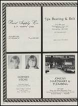 1986 Mountain Pine High School Yearbook Page 122 & 123