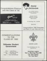 1992 Stillwater High School Yearbook Page 160 & 161