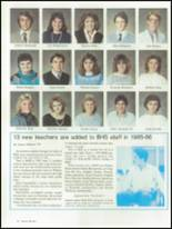 1986 Brunswick High School Yearbook Page 42 & 43