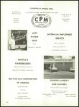 1971 Culpeper County High School Yearbook Page 182 & 183