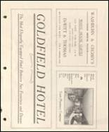 1908 Goldfield High School Yearbook Page 10 & 11