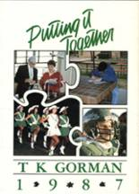 1987 Yearbook Bishop Thomas K. Gorman Middle/High School