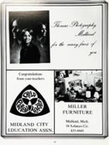 1975 Midland High School Yearbook Page 232 & 233