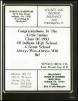 1983 Indiana Area High School Yearbook Page 244 & 245