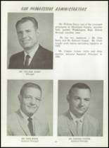 1961 Washington High School Yearbook Page 16 & 17