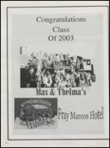 2003 Williams High School Yearbook Page 108 & 109