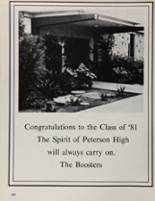 1981 Peterson High School Yearbook Page 206 & 207