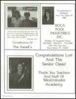1985 Westminster Academy Yearbook Page 202 & 203